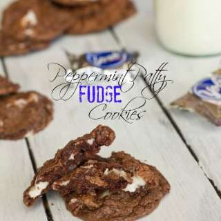 Peppermint Patty Fudge Cookies