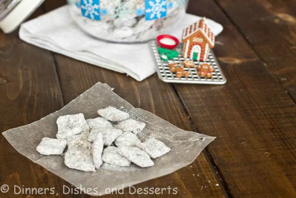 Puppy Chow - the best part of classic muddy buddies is the pieces that clump together. This amped up version gives more chocolate & PB - the best part!