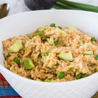 a bowl of mexican rice