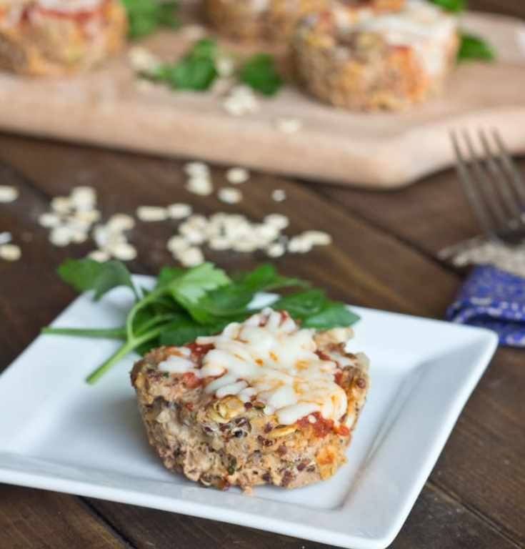 turkey quinoa muffins cups on a plate