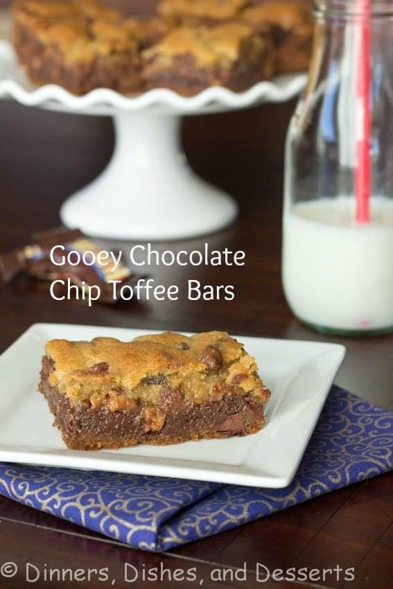 Gooey Chocolate Toffee Bars