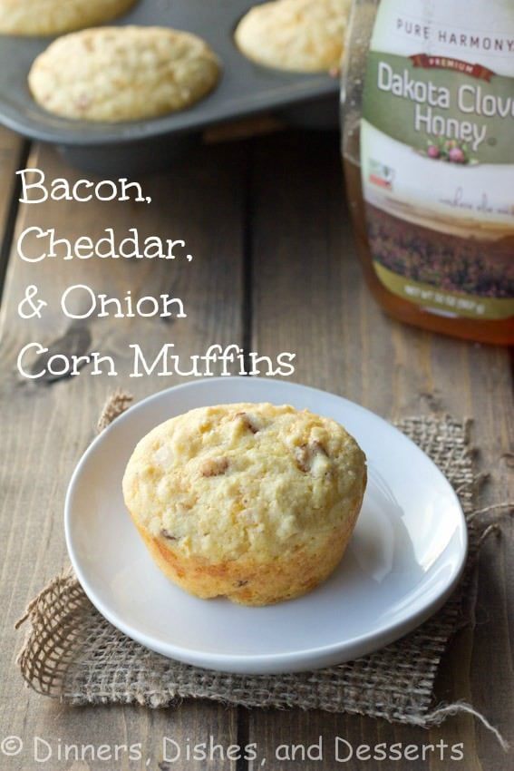 Bacon Cheddar Onion Corn Muffins