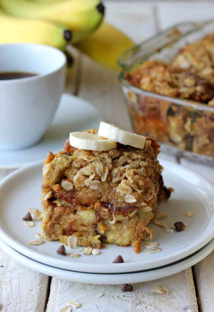 banana and chocolate chip french toast