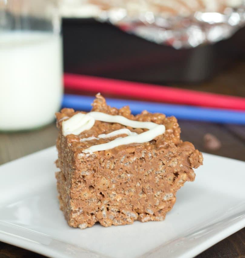 Chocolate Peanut Butter Krispie Treat