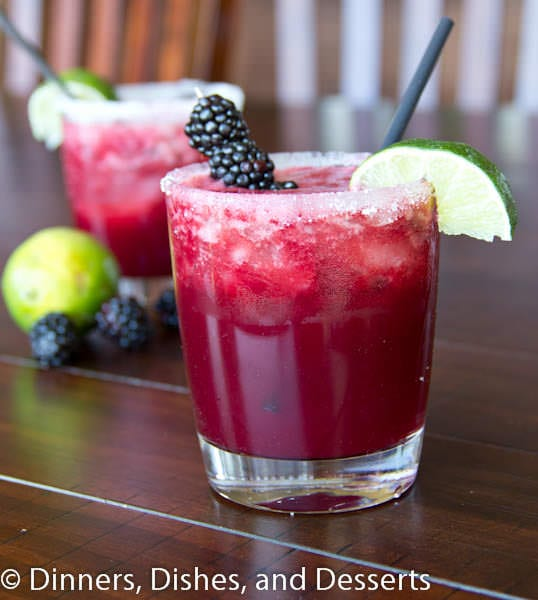 Skinny Blackberry Margaritas