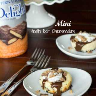 Mini Heath Bar Cheesecakes #recipe
