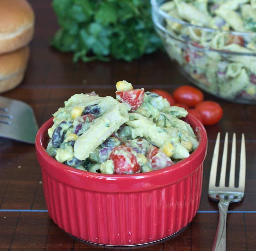 4th of July Creamy Avocado Pasta Salad