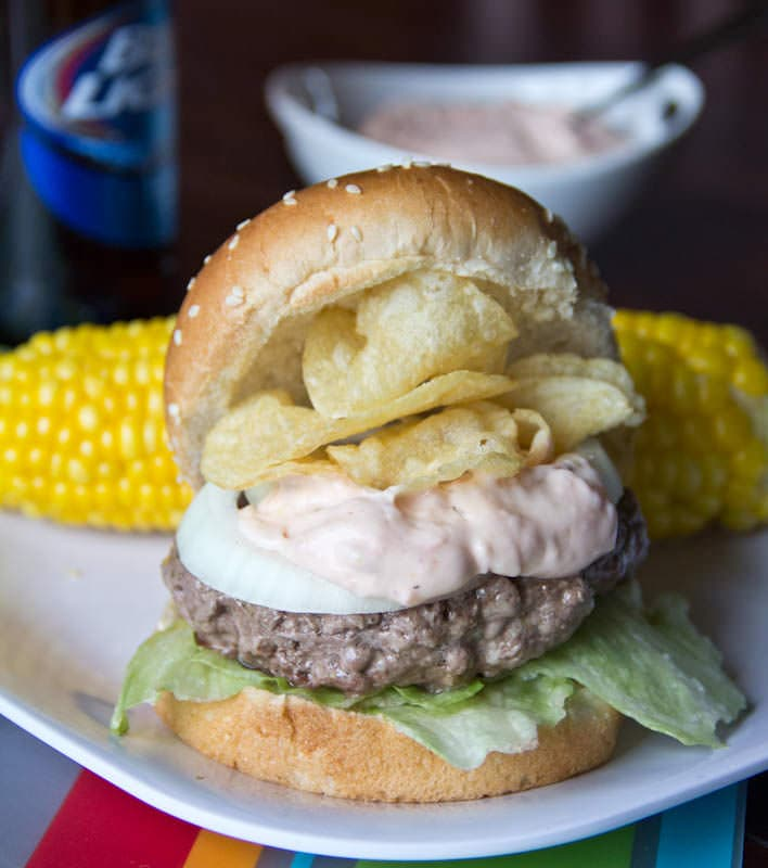 Crunchburger - perfect for summer get togethers