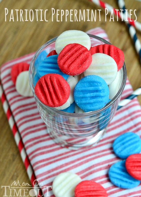 red white and blue peppermint-patties
