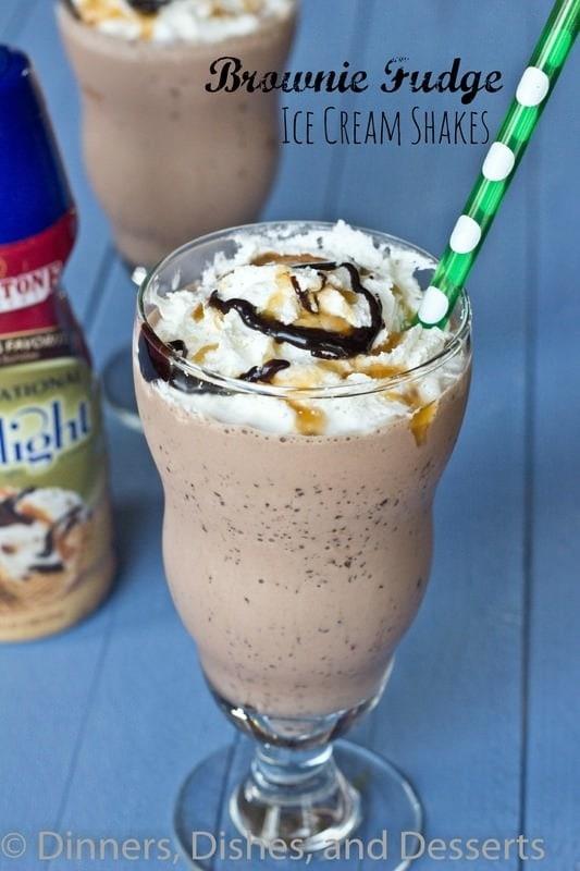 Brownie Fudge Ice Cream Shakes