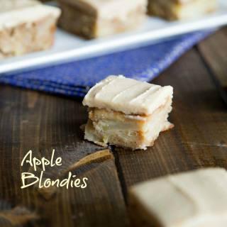 Apple Blondies with Cinnamon Brown Sugar Frosting