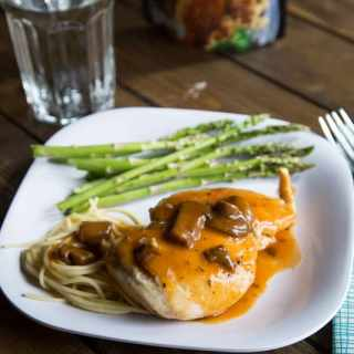 chicken marsala on a plate
