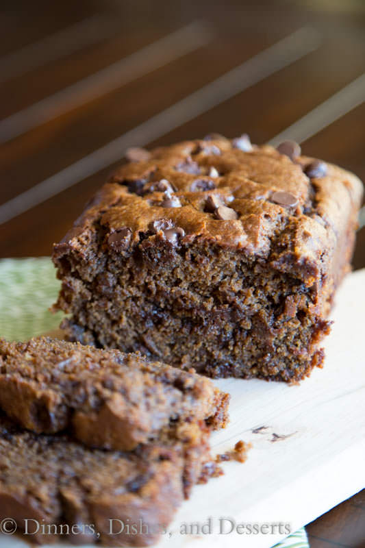 chocolate pumpkin bread on a plate