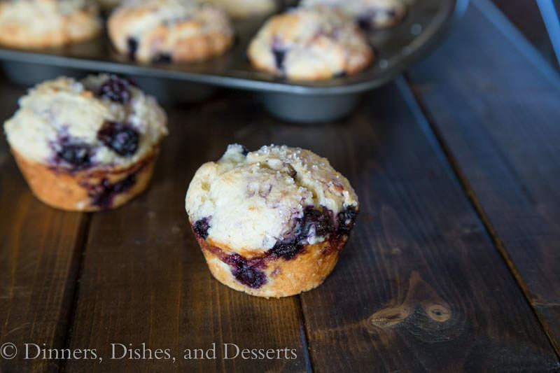 Bakery Style Blueberry Muffins #LittleChanges