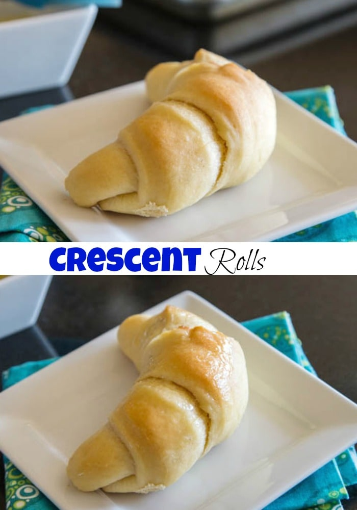 Crescent Rolls - Soft, buttery, and flaky homemade crescent rolls are perfect for homemade soup, stews, and chili on a cold night.