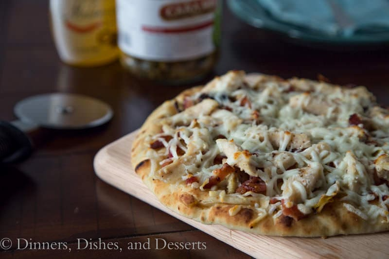 Grilled Artichoke, Chicken & Bacon Pizza