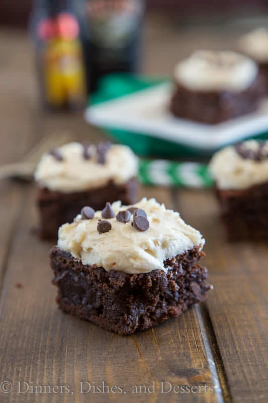 Mudslide Brownies {Dinners, Dishes, and Desserts}