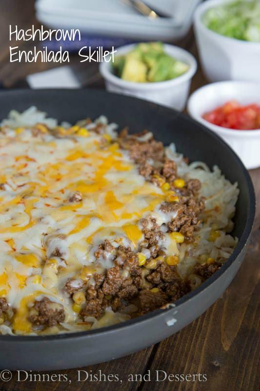Hashbrown Enchilada Skillet