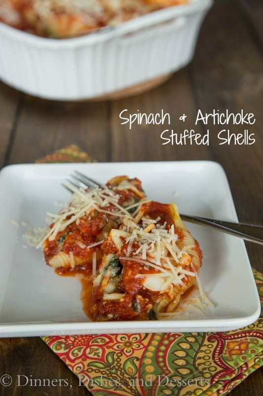Spinach & Artichoke Stuffed Shells