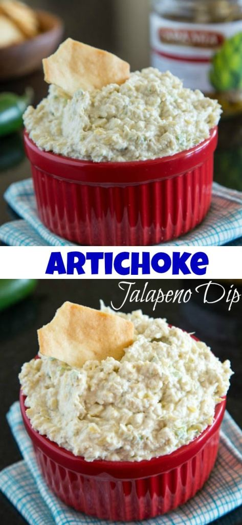 Artichoke jalapeno dip pin collage