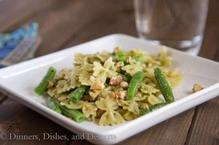Bowtie Pasta with Pesto and Walnuts