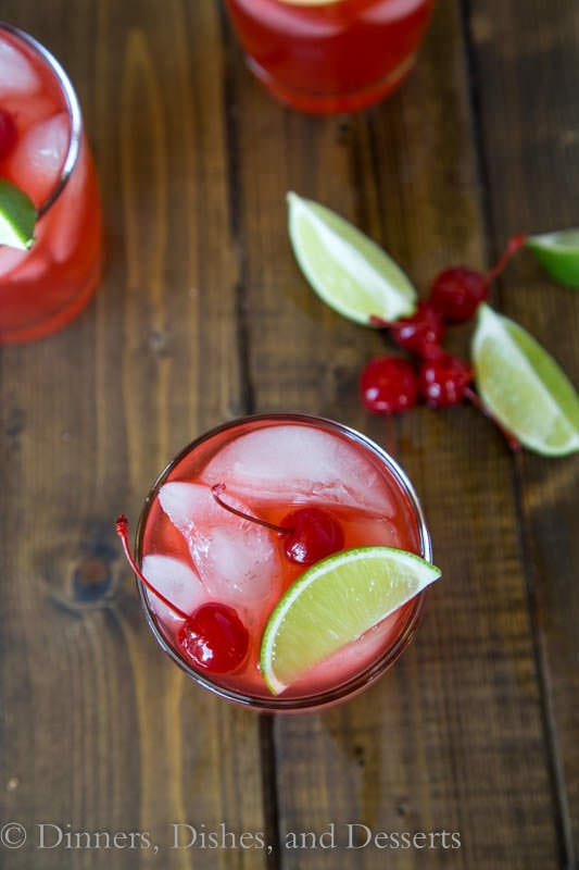 Cherry Limeade Margaritas (both with and without alcohol) so refreshing and fun for summer!
