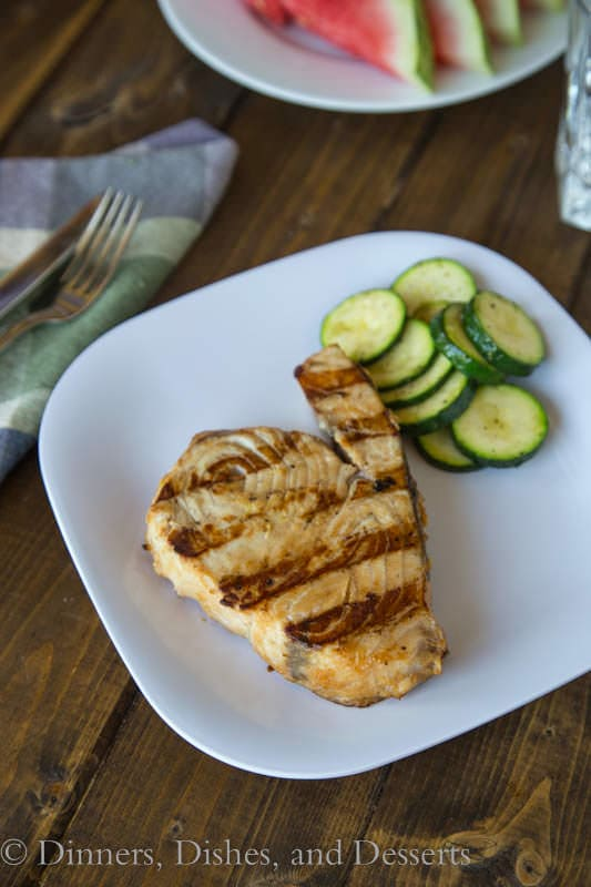 Soy-Ginger Marinated Grilled Swordfish: Quick and easy dinner for a hot summer night