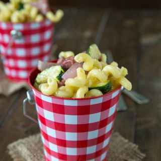 Pasta Salad with Summer Sausage and Grilled Veggies - great for picnics or a summer side dish