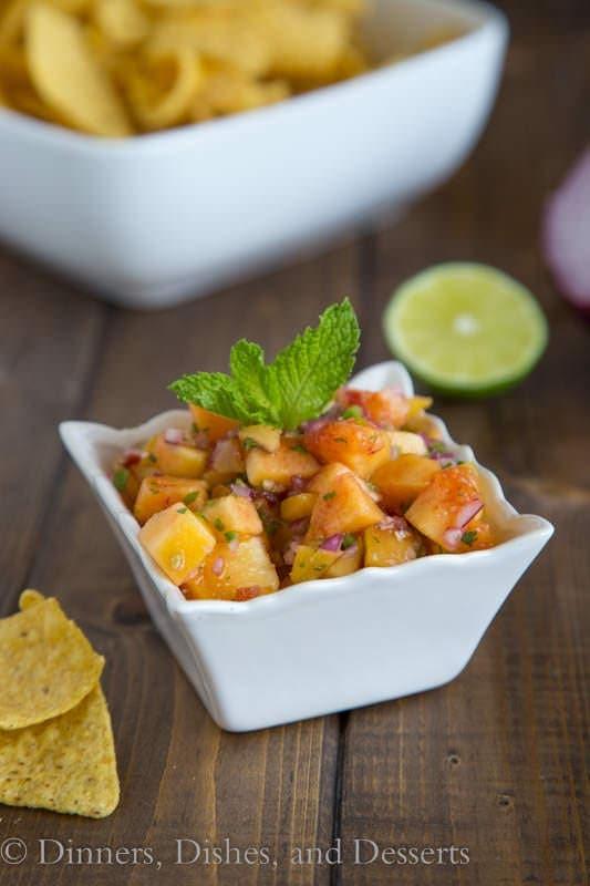 Peach Salsa - fresh peaches bring so much flavor to this salsa.