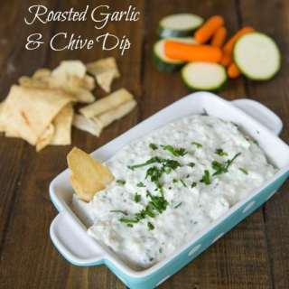 Roasted Garlic & Chive Dip - perfect for entertaining