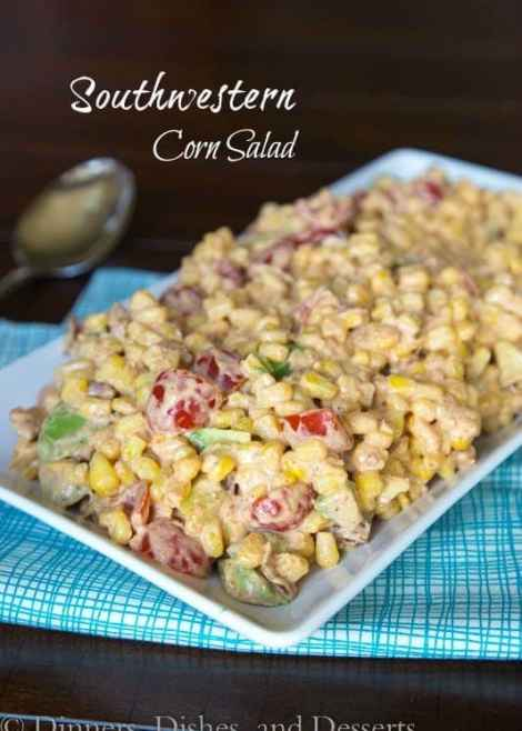 Southwestern Corn Salad {Dinners, Dishes, and Desserts}