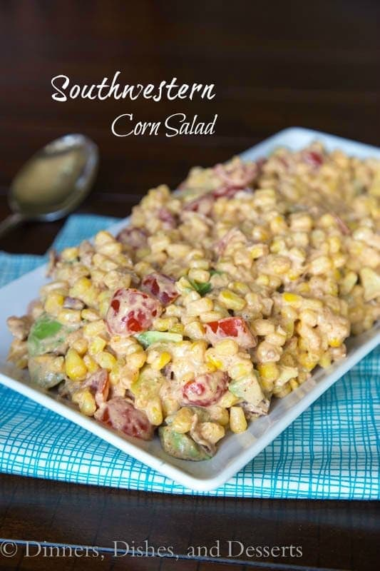 Southwestern Corn Salad - summer corn never tasted so good!