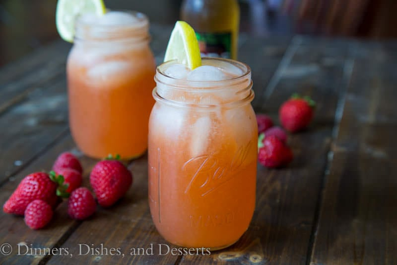 Mixed Beery Lemonade {Dinners, Dishes, and Desserts}