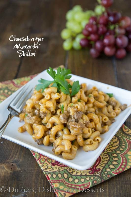 Cheeseburgery Macaroni Skillet - 20 minutes, one pan, and dinner is done!