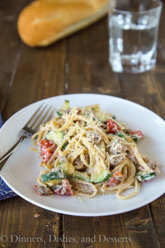 Creamy Tomato, Zucchini & Ricotta Pasta - a quick and easy weeknight dinner