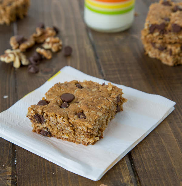 Walnut Chocolate Chip Protein Bars {Dinners, Dishes, and Desserts}