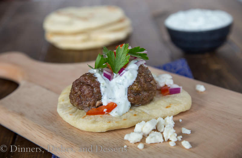 Greek Meatball Sandwiches { Dinners, Dishes, and Desserts}