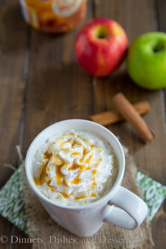Hot Caramel Apple Cider - caramel and apples are a match made in heaven!