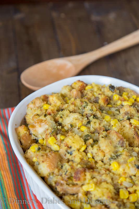Southwest Cornbread Stuffing is a great twist on a classic holiday stuffing