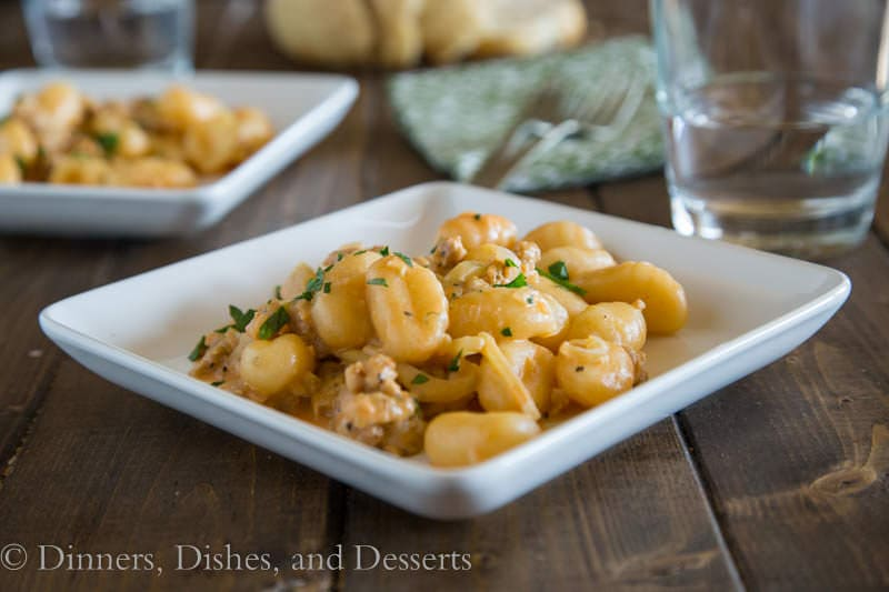 Gnocchi with Fennel & Sausage {Dinners, Dishes, and Desserts}