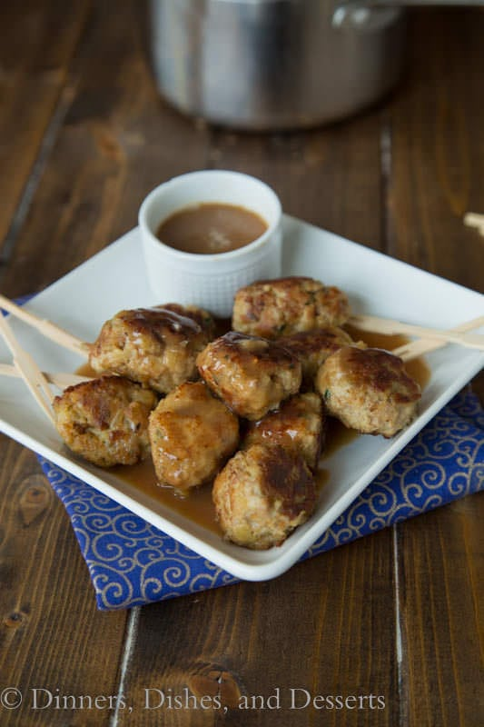 Leftover Turkey and Stuffing Meatballs - Turn leftover stuffing into turkey and stuffing meatballs.  Dip in leftover gravy or cranberry sauce!