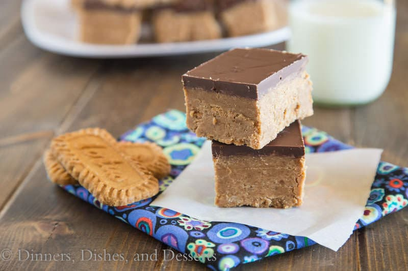 No Bake Biscoff Bars {Dinners, Dishes, and Desserts}