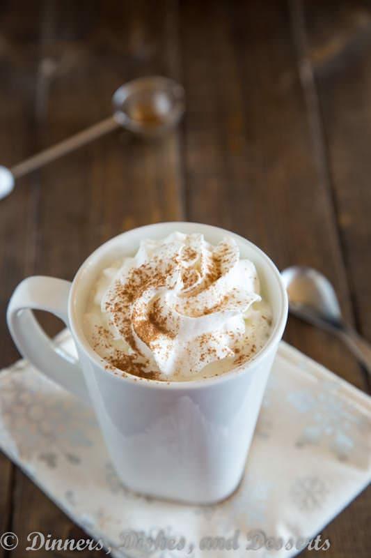 Cashew Milk Pumpkin Steamer - a hot cashew milk drink with pumpkin and pumpkin pie spice. Perfect way to warm up this holiday season.