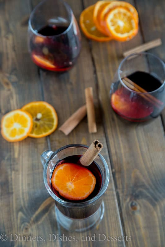 Spiced Mulled Wine - warm spices and a hint of orange make for a great holiday drink.