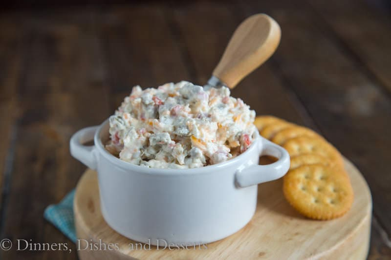 Cheddar Green Olive Dip {Dinners, Dishes, and Desserts}