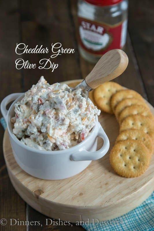 Cheddar Green Olive Dip