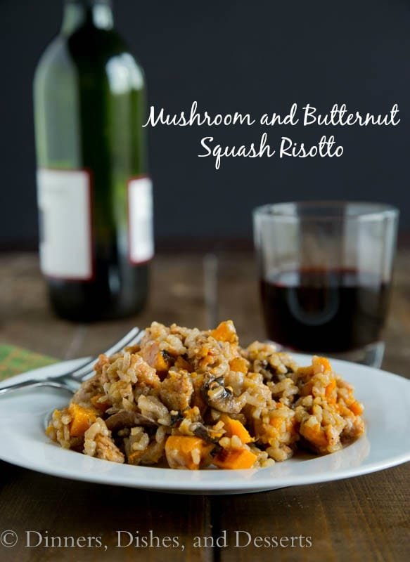 Mushroom and Butternut Squash Risotto