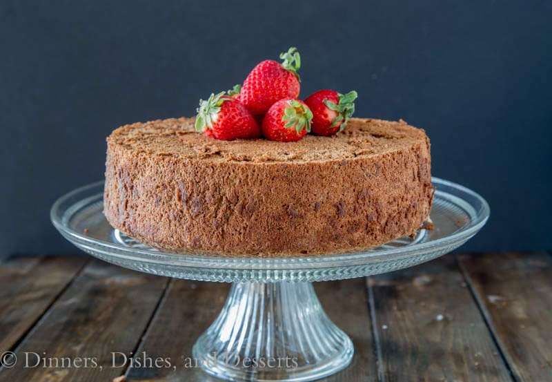 Chocolate Angel Food Cake {Dinners, Dishes, and Desserts}