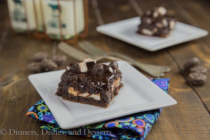 Peppermint Pattie Brownies {Dinners, Dishes, and Desserts}