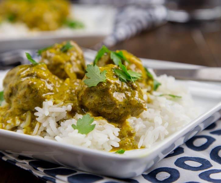 Coconut Curry Meatballs